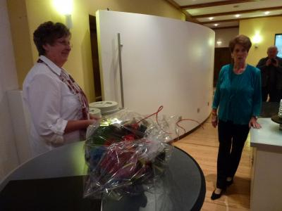 Foto zur Meldung: Der Frauenchor brachte ein Ständchen und gratulierte musikalisch zum 70. Geburtstag