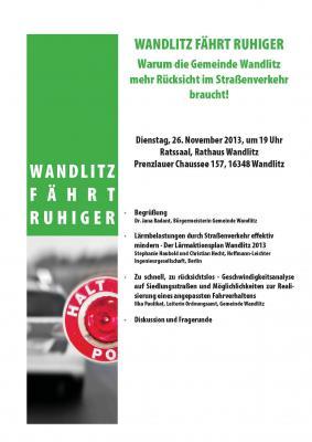 """Foto zur Meldung: """"Wandlitz fährt ruhiger"""""""