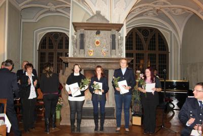 Foto zur Meldung: Feierliche Auszeichnungsveranstaltung für langjährige Mitglieder der freiwilligen Feuerwehren der Gemeinde Plattenburg