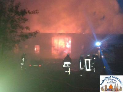 Foto zur Meldung: Brandeinsatz im Löwenberger Land
