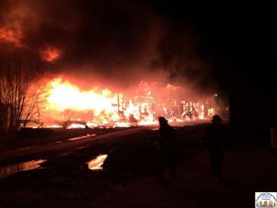 Foto zur Meldung: Großbrand in Osterne