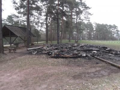 Foto zur Meldung: Brandstiftung im Sporthaus