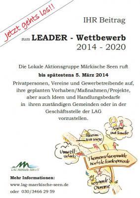 Foto zur Meldung: Neuer LEADER-Wettbewerb gestartet: Lokale Aktionsgruppe Märkische Seen ruft zur Einreichung von neuen Vorhaben auf