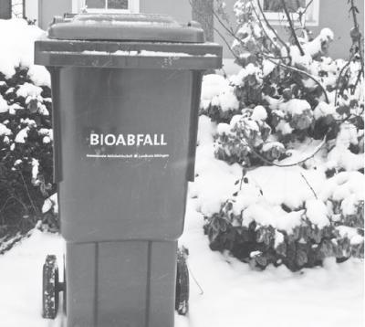 Foto zur Meldung: Wenn der Müll vor Kälte eine Gänsehaut bekommt...