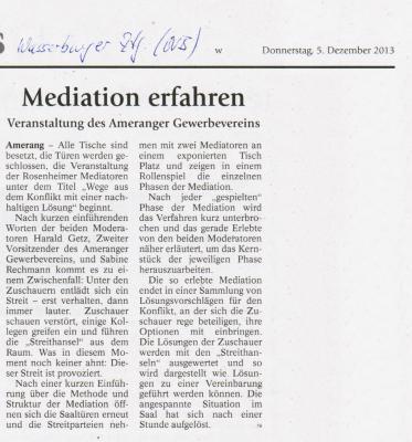 Vorschaubild zur Meldung: Rosenheimer Mediatoren beim Ameranger Gewerbeverein