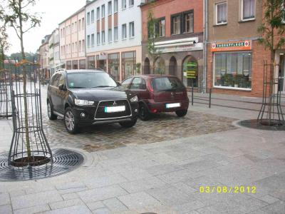 Foto zu Meldung: Cottbuser Straße als verkehrsberuhigter Bereich