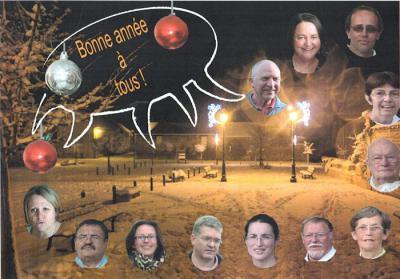 Foto zur Meldung: Neujahrsgrüße aus Nucourt & Besuch an Pfingsten