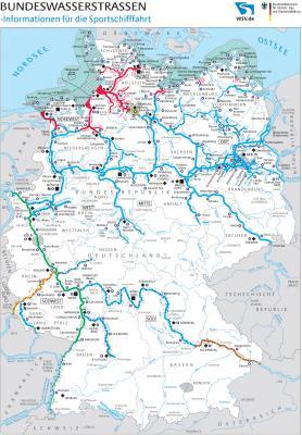 Wassertourismusnetz der Bundeswasserstraßen