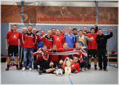 Foto zur Meldung: 1. Herren / Plauer FC Hallenkreismeister 2013/2014