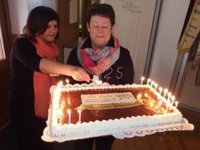 Foto zur Meldung: Frauenchor Schenklengsfeld überbrachte musikalische Glückwünsche zum 125 Gründungstag des MGV´s Schenklengsfeld