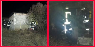 Foto zu Meldung: Schuppenbrand in Zinndorf