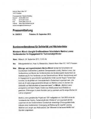 Foto zur Meldung: Bundesverdienstkreuz für Solidarität und Nächstenliebe