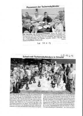 Foto zur Meldung: Schach mit Tschernobylkindern in Ortrand