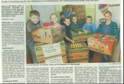 Foto zur Meldung: Große Unterstützung für due Hilfsaktion in Großkmehlen für weißrussische Kinder und Familien