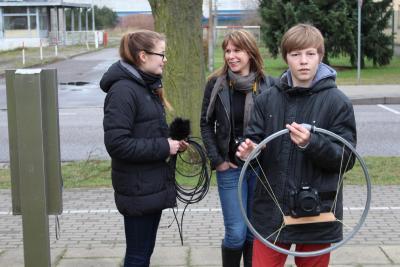 Foto zur Meldung: Zusammenarbeit mit der AG Film des Gymnasiums vereinbart