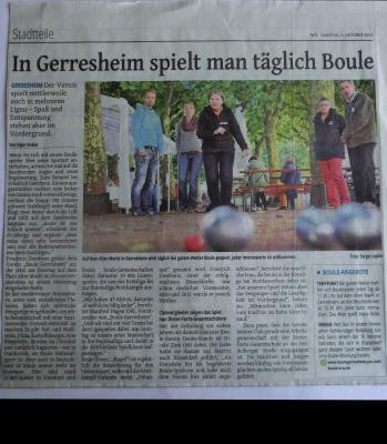 """""""In Gerresheim spielt man täglich Boule"""""""