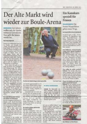 """Vorschaubild zur Meldung: """"Der alte Markt wird wieder zur Boule-Arena"""""""