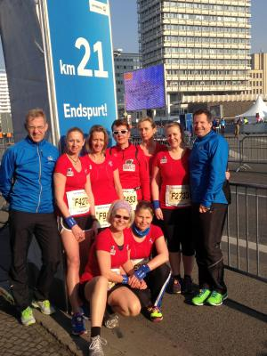 Foto zur Meldung: 34. Berliner Halbmarathon mit Beteiligung des SC Laage