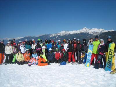 Foto zur Meldung: Rheinböller Realschüler/innen im Ski-Schullandheim