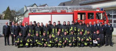 Foto zur Meldung: Teil 1 des Feuerwehrgrundlehrganges erfolgreich