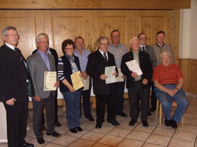 Foto zur Meldung: Jahreshauptversammlung mit Neuwahlen und Mitgliederehrung
