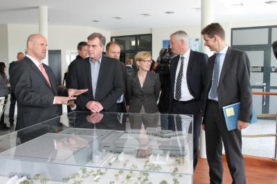 Bild der Meldung: Ralf Christoffers besucht zukünftige Europazentrale