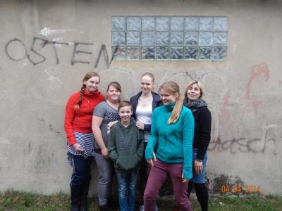 Foto zur Meldung: Groß Laasch  Graffiti-Projekt im Jugendclub
