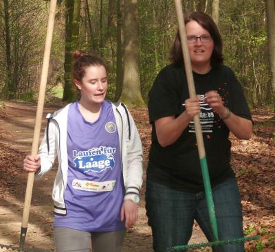 Foto zur Meldung: Laufstrecke im Stadtwald wettkampftauglich gemacht