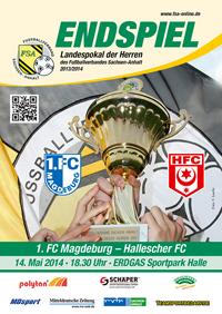 Foto zur Meldung: Auf in den ERDGAS Sportpark Halle (Saale). Freier Kartenvorverkauf für das Endspiel um den Landespokal der Herren des FSA startet am 2. Mai 2014