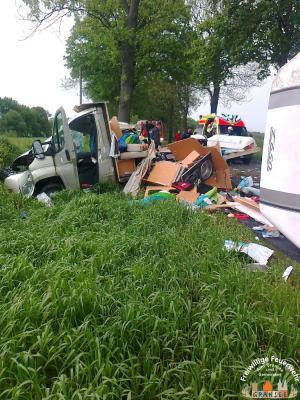 Foto zur Meldung: 3 Verletzte bei Unfall mit Wohnmobil auf der B 96