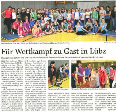 Foto zu Meldung: Zweifelderballturnier in Lübz