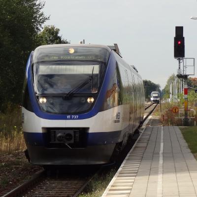 Foto zur Meldung: Auf dem Führerstand nach Kostrzyn nad Odra