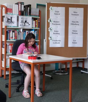 Foto zur Meldung: Jenny Bertling ist unsere beste Vorleserin