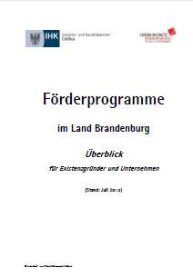 Foto zur Meldung: Förderfibel für Brandenburg aktualisiert