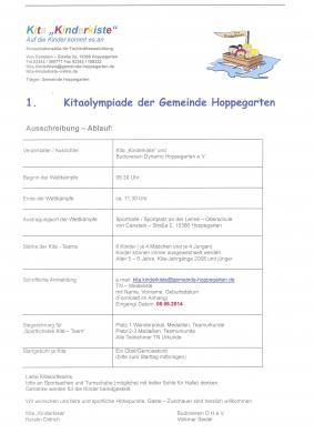 Bild der Meldung: 1. Kitaolympiade der Gemeinde Hoppegarten