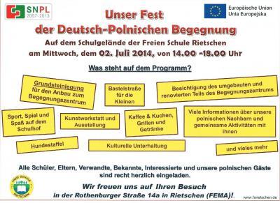 Foto zur Meldung: FEST DEUTSCH POLNISCHE BEGEGNUNG