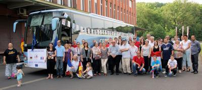 Foto zur Meldung: Herzlicher Besuch aus der Partnerstadt Nucourt