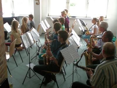 Foto zu Meldung: 2. gemeinsamer Bläser-Band-Workshop