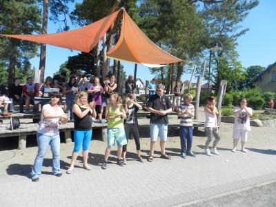 Foto zur Meldung: Projektwoche in der Grund-und Oberschule Schenkenland