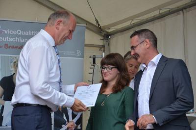 Foto zur Meldung: Landkreis und Kreismuseum zu Gast beim Brandenburg-Tag