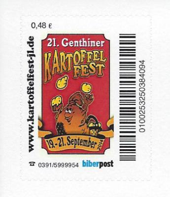 Foto zur Meldung: Volksfest auf Briefmarke