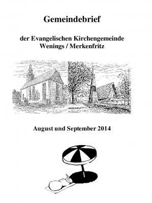 Foto zur Meldung: Neuer Gemeindebrief für August & September 2014