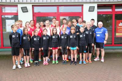 Foto zur Meldung: Trainingslager mit motiviertem Läufernachwuchs