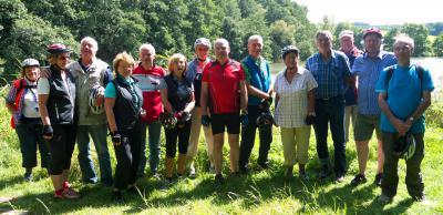 Bild zeig die Gruppe der Seniorenradler*innen beim Ausflug nach Gedern im Jahr 2014; Foto: Stadt Maintal