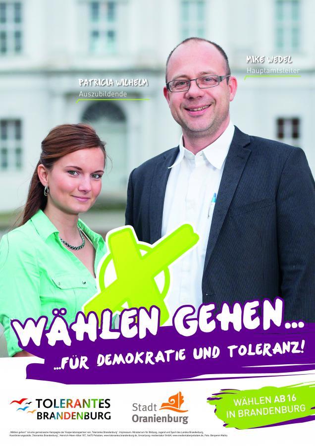 Stadt Oranienburg - Plakatkampagne läuft: »Wählen gehen – für ...