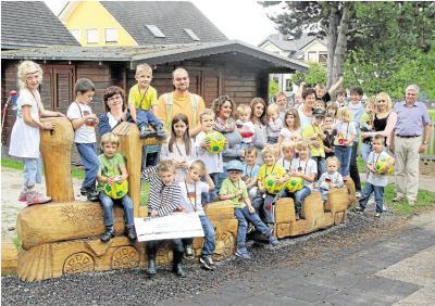 Foto zu Meldung: Kindertagesstätte rüstet sich für die Zukunft