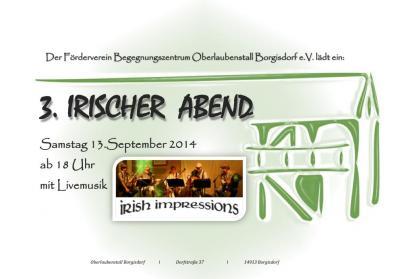 Foto zur Meldung: Irish Folk vor stimmungsvoller Kulisse - 3. Irischer Abend in Borgisdorf