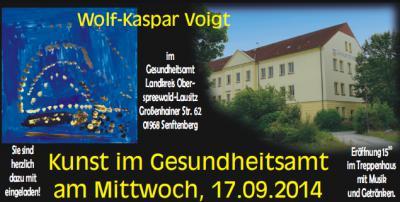 """""""Kunst im Gesundheitsamt"""": Wolf-Kaspar Voigt gewährt Einblicke in sein Wirken"""