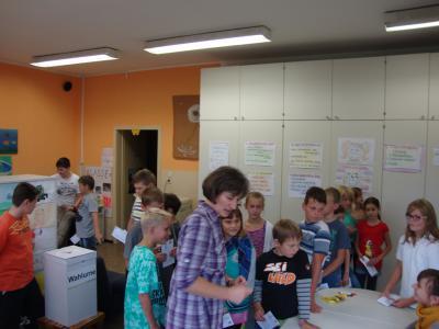Foto zur Meldung: Juniorwahl in Golzow