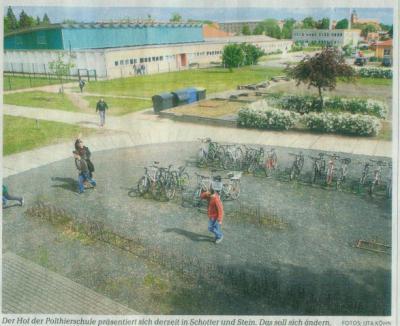 Foto zur Meldung: Schulhof soll zum Park werden